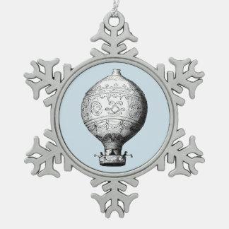 Adorno De Peltre Tipo Copo De Nieve Globo del aire caliente del vintage de Montgolfier