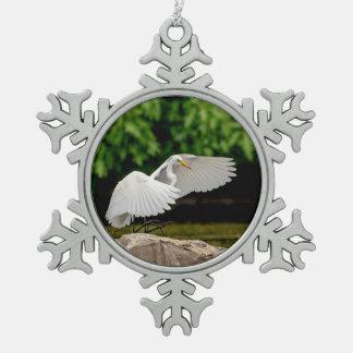Adorno De Peltre Tipo Copo De Nieve Gran Egret