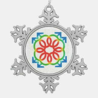Adorno De Peltre Tipo Copo De Nieve Gran símbolo griego exclusivamente por Charlie