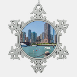 Adorno De Peltre Tipo Copo De Nieve Horizonte de Chicago