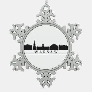 Adorno De Peltre Tipo Copo De Nieve horizonte de Varsovia