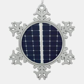 Adorno De Peltre Tipo Copo De Nieve Imagen de un panel de la energía solar divertido