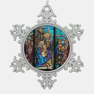 Adorno De Peltre Tipo Copo De Nieve Imagen religiosa para el ornamento del copo de