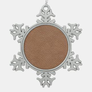 Adorno De Peltre Tipo Copo De Nieve Imitación de cuero Brown natural