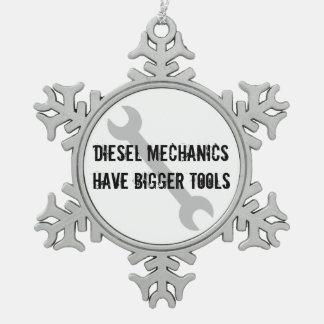 Adorno De Peltre Tipo Copo De Nieve Los mecánicos diesel tienen herramientas más