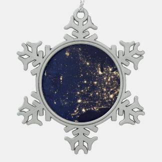 Adorno De Peltre Tipo Copo De Nieve Luces de la NASA del espacio los E.E.U.U.