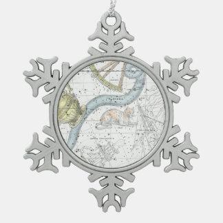 Adorno De Peltre Tipo Copo De Nieve Mapa de la placa XXVI de las constelaciones