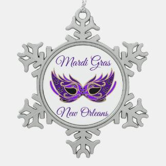 Adorno De Peltre Tipo Copo De Nieve Máscara de New Orleans del carnaval