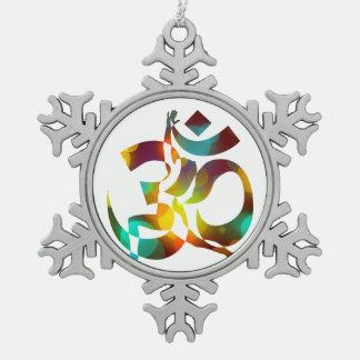 Adorno De Peltre Tipo Copo De Nieve Meditación coloreada 16