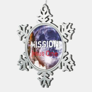 Adorno De Peltre Tipo Copo De Nieve Misión Jesús uno