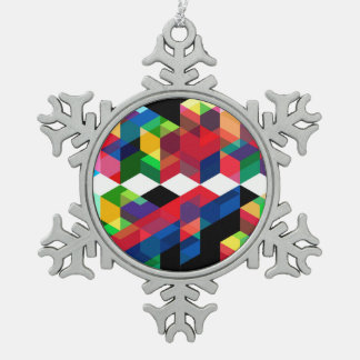 Adorno De Peltre Tipo Copo De Nieve Modelo geométrico brillante del diamante