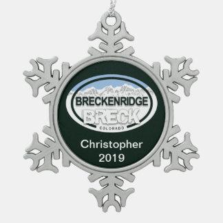 Adorno De Peltre Tipo Copo De Nieve Montaña rocosa personalizada de Breckenridge