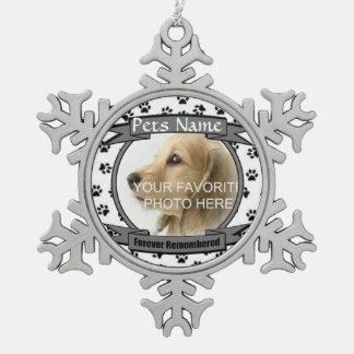 Adorno De Peltre Tipo Copo De Nieve Monumento para siempre recordado del perro o del