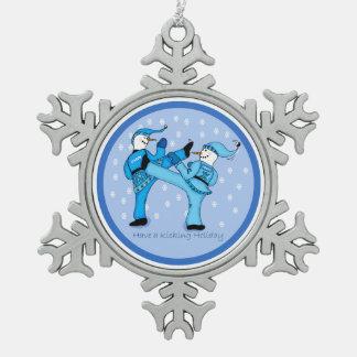 Adorno De Peltre Tipo Copo De Nieve Muñecos de nieve de los artes marciales para el