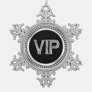 Adorno De Peltre Tipo Copo De Nieve Navidad de plata del VIP del diamante