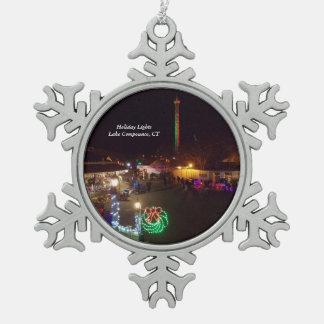 Adorno De Peltre Tipo Copo De Nieve Ornamento 1 del copo de nieve de Compounce del