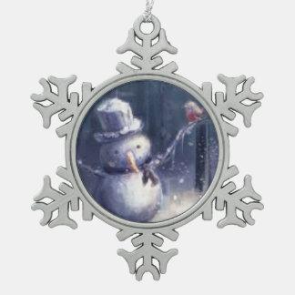 Adorno De Peltre Tipo Copo De Nieve Ornamento adorable del copo de nieve del arte del