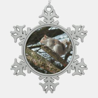 Adorno De Peltre Tipo Copo De Nieve ornamento - ardilla