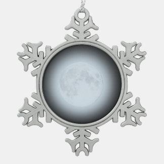 Adorno De Peltre Tipo Copo De Nieve Ornamento de la Luna Llena para Yule