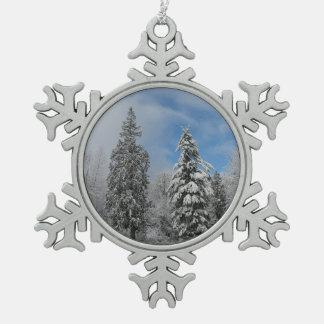 Adorno De Peltre Tipo Copo De Nieve Ornamento de la nieve del invierno de los árboles