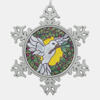 Adorno De Peltre Tipo Copo De Nieve Ornamento de la paz