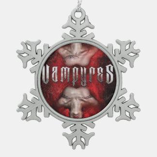 Adorno De Peltre Tipo Copo De Nieve Ornamento del árbol de navidad de Vampyres