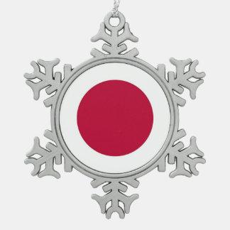 Adorno De Peltre Tipo Copo De Nieve Ornamento del copo de nieve con la bandera de