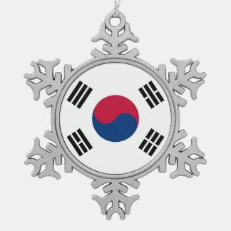 Adorno De Peltre Tipo Copo De Nieve Ornamento del copo de nieve con la bandera de la