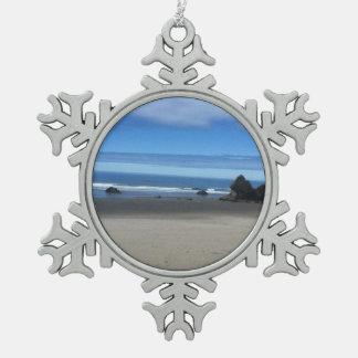 Adorno De Peltre Tipo Copo De Nieve Ornamento del copo de nieve de la costa de Oregon