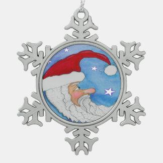 Adorno De Peltre Tipo Copo De Nieve Ornamento del copo de nieve de la luna de Santa