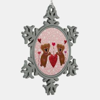 Adorno De Peltre Tipo Copo De Nieve Ornamento del copo de nieve de los corazones de la