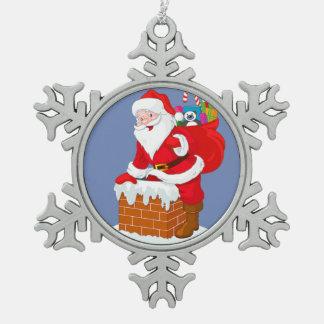 Adorno De Peltre Tipo Copo De Nieve Ornamento del copo de nieve de Santa