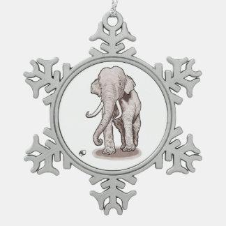 Adorno De Peltre Tipo Copo De Nieve Ornamento del copo de nieve del elefante de la