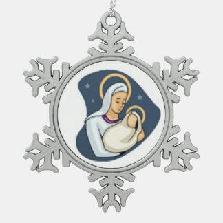 Adorno De Peltre Tipo Copo De Nieve Ornamento del copo de nieve del estaño/bebé Jesús