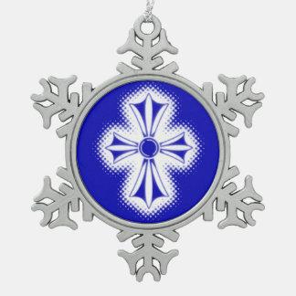 Adorno De Peltre Tipo Copo De Nieve Ornamento del copo de nieve del estaño/cruz