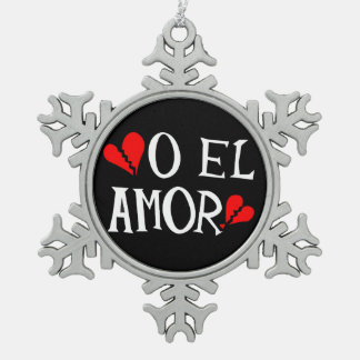 Adorno De Peltre Tipo Copo De Nieve Ornamento del copo de nieve del estaño del EL Amor