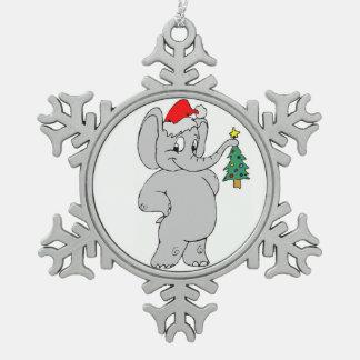 Adorno De Peltre Tipo Copo De Nieve Ornamento del copo de nieve del estaño/elefante de