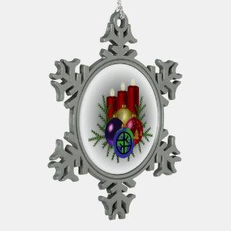Adorno De Peltre Tipo Copo De Nieve Ornamento del copo de nieve del estaño - mundo
