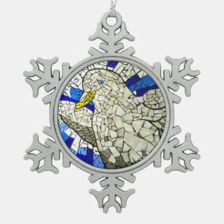 Adorno De Peltre Tipo Copo De Nieve Ornamento del navidad de la nieve del vitral de la