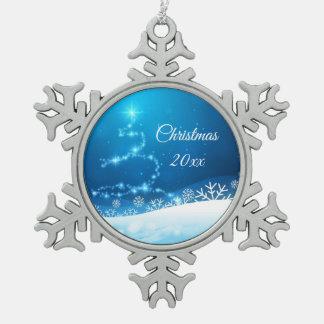 Adorno De Peltre Tipo Copo De Nieve Ornamento del recuerdo del navidad 20xx