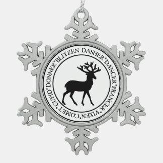 Adorno De Peltre Tipo Copo De Nieve Ornamento del reno