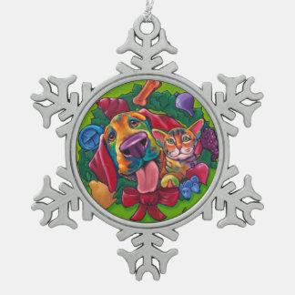 Adorno De Peltre Tipo Copo De Nieve Ornamento del tintineo y del copo de nieve de