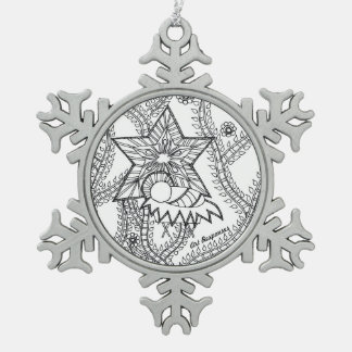 Adorno De Peltre Tipo Copo De Nieve ornamento santo del niño