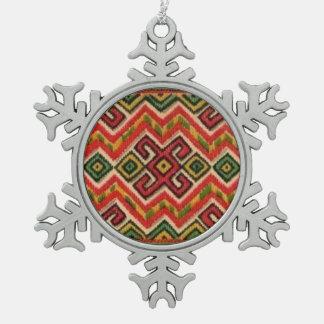 Adorno De Peltre Tipo Copo De Nieve Ornamento ucraniano del navidad de las máquinas