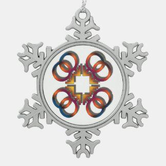 Adorno De Peltre Tipo Copo De Nieve Otros de los símbolos únicos de Charlie