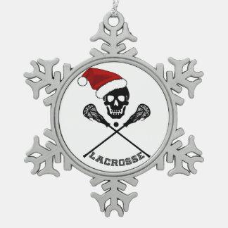 Adorno De Peltre Tipo Copo De Nieve Palillos de LaCrosse del navidad