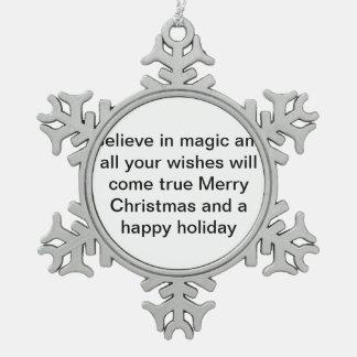 Adorno De Peltre Tipo Copo De Nieve para la gente que todavía necesita creer en magia