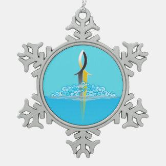 Adorno De Peltre Tipo Copo De Nieve Perforación de la espada de los pescados de Jesús
