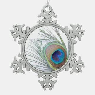 Adorno De Peltre Tipo Copo De Nieve Pluma del pavo real