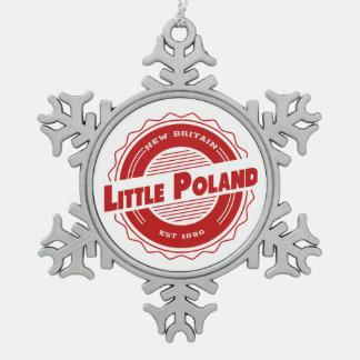 Adorno De Peltre Tipo Copo De Nieve Poco ornamento del navidad de Polonia